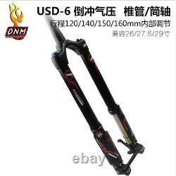 1pcs Premium DNM USD-6 AM FR Mountain Bike Air Fork Reverse Fork 1-1/8 Travel