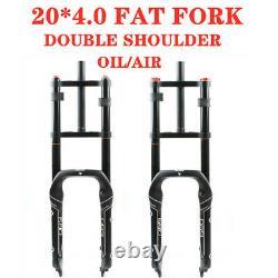 20''4.0'' 20135MM Fat Snow Beach Bike Fat Fork Shoulder OIL AIR Bicycle Forks