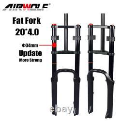 204.0 MTB Air Suspension Fat Fork Downhill Beach Snow Bike Forks 185mm Travel