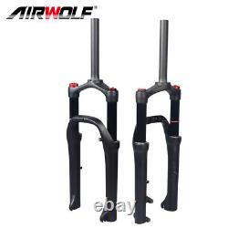 20er4.0 Air Suspension Fat Fork MTB/SnowithBeach BMX Bike QR Forks 130mm 1-1/8
