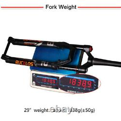 26/27.5/29 Air Suspension Fork Rebound 120mm MTB Bike Disc Brake Thru Axle Fork