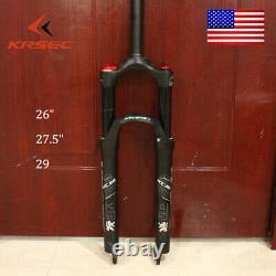 26/27.5/29 Air Suspension Forks Mtb 120mm Travel QR 9mm MTB Bike Fork 28.6mm