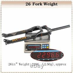 264.0 Air Suspension Forks 120mm Fat/SnowithBeach Bike1-1/8 Threadless Black US