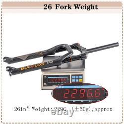 264.0 in MTB/Fat/Snow Bike Air Spring Suspension Fork 1-1/8 Straight 9mm QR AL