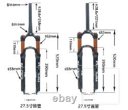 Air Suspension Front Fork MTB Road Bike 26 27.5 29 100mm 1-1/8 Threadless NEW