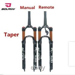 BOLANY 26/27.5/29'' Bicycle Front Fork MTB Bike Air Suspension Fork 100MM Travel