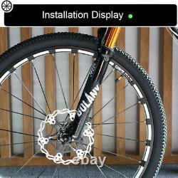 BOLANY 26 Fat MTB Bike Suspension Fork 120mm 1-1/8 Threadless Air Fork Disc