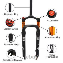 BOLANY Fat Suspension Fork 4.0 Tire 120mm Travel Beach Snow Bike Forks Air Shock
