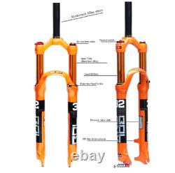 BOLANY MTB Bike Air Suspension Fork Magnesium Alloy 26 27.5 29er 32 HL RL100mm
