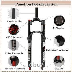 BUCKLOS 26/27.5/29 Rebound MTB Air Suspension Fork 120mm Remote/Manual 1-1/8 in
