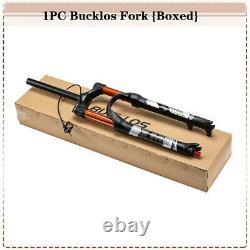 BUCKLOS 26 Remote MTB Air Suspension Fork 120mm Travel Rebound 1 1/8 Straight