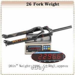 BUCKLOS 264.0 MTB/Beach Bike 1-1/8 Threadless Forks Air Spring 120mm Travel