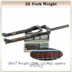 BUCKLOS 264.0 Mountain Bike Air Suspension Fork 120mm Travel 1-1/8 Disc Brake
