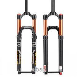 BUCKLOS 29 XC MTB Bike Air Suspension Fork Rebound 120mm Travel 1-1/8 Straight