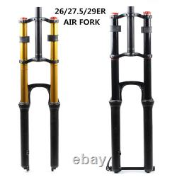 Bicycle Fork MTB Suspension Air Magnesium Alloy Straight Double Shoulder Lock