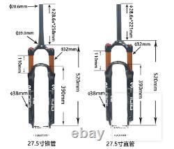 Bolany 26/27.5/29 Air Suspension MTB Fork Road Bike Remote/Manual Lock 1-1/8'