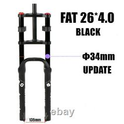 Double Shoulder Fat Bicycle 26 4.0 Air Fork MTB Moutain Bike Suspension Forks