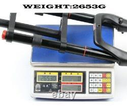 Double Shoulder MTB Moutain Fat Fork Rebound Adjustment 26 4.0 135mm Air Fork