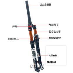 High-quality 26/27.5/29 Air Suspension Front Fork MTB Road Bike 1-1/8Threadless