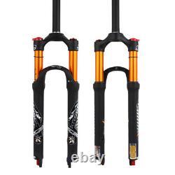 KRSEC 26/27.5/29 MTB Bike Forks 100mm Travel Air Suspension Fork Rebound Adjust