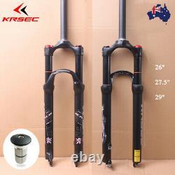 KRSEC 26/27.5/29 MTB Suspension Fork Air Shock 120mm 1-1/8 Straight 9mmQR Disc