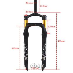 KRSEC 264.0 Beach Snow Bike Air Forks 1-1/8 Fat Bicycle Suspension Fork 120mm