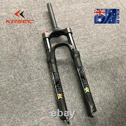 KRSEC Air Suspension Forks 26/27.5/29 Bike MTB Bike 1-1/8 Disc 9mm QR Aluminum