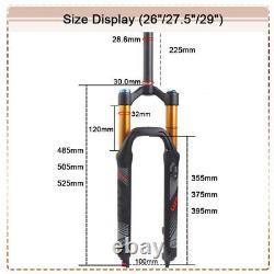 LUTU 120mm Travel MTB Bike Air Suspension Fork 26/27.5/29 Disc Rebound Adjust