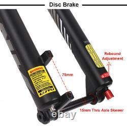 LUTU 26/27.5/29er MTB Suspension Fork 1-1/8 Rebound Disc Brake Air Shock 140mm