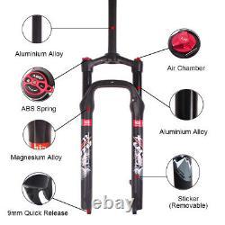 LUTU Mountain Bike Fat Suspension Fork 264.0 100mm Disc Brake 1-1/8 Air Forks