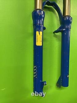 MARZOCCHI BOMER Z4 FLYLIGHT AIR FRONT SUSPENSION FORKS, BLUE, RETRO MTB s/814