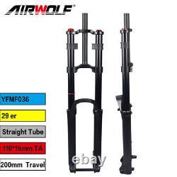 MTB Air Suspension Fork 29er Boost Downhill Bike Forks 200mm Travel 1-1/8 11015