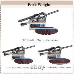 MTB Bike Air Suspension Front Forks Rebound 9mm QR 26/27.5/29 Straight Disc AL