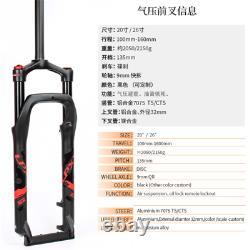 MTB Snow Fat Bicycle Air Suspension Forks 20/26er MTB Bike Magnesium 4.0tire