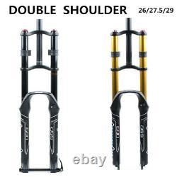 MTB Suspension Air Bicycle Fork Double Shoulder Air Oil Lock Downhill Bike Fork
