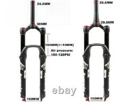 MTB Suspension Air Bicycle Fork Travel 160mm Rebound Adjustment Quick Release QR