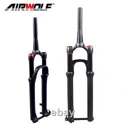 Mountain Air Suspension Front Fork MTB Road Bike 29er 130mm 1-1/8 Tapered Forks