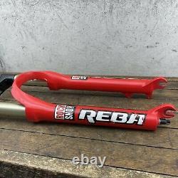 Rock Shox Reba Fork Disc Vintage U-Turn Air Race 8.75 x 1-1/8 26 Wheel RED