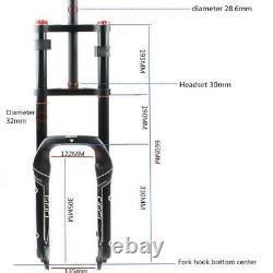 Snow Bike Fork Double Shoulder 20 4.0 Fat Rebound Adjustment Fat Bicycle Fork