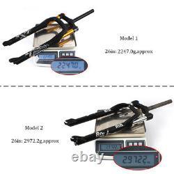 Suspension Fork Air/Oil Spring 26 For 4.0 Tire Snow MTB Fat Bike 9mm QR Fork