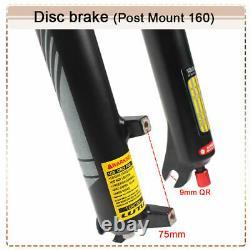 UK 27.5 MTB Air Shock Suspension Fork 120mm Travel 1-1/8 Rebound Cycling Forks