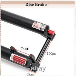 US 26/27.5/29 Straight Tapered MTB Bike Suspension Fork Air/Mechanical Forks QR