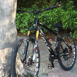 US 26/27.5/29er MTB Bike Suspension Fork 120mm 1-1/8 Air Shock Rebound Adjust